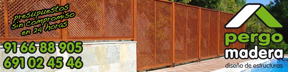 Pergomadera ofertas promociones celosias de madera for Celosia de madera para jardin